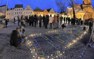 Marktplatz Luckau, Mensch Luckau